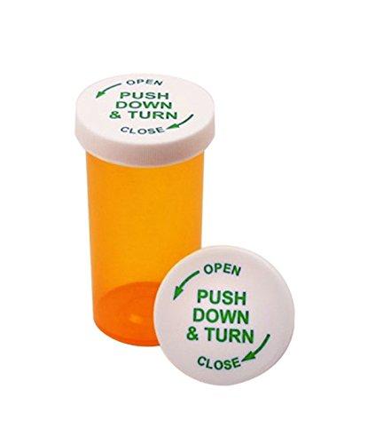 16 DRAM Prescription Pill Vials with Child Resistant Security Twist Caps 16 DRAM 12 PCS