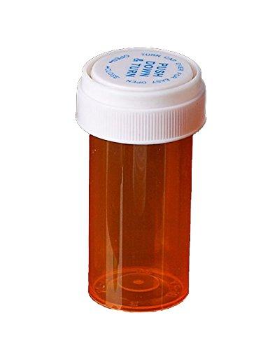 Amber Prescription Pharmacy Vials 13 Dram Amber Vials with Reversible Caps Quantity 275 Vials per Case Caps Included