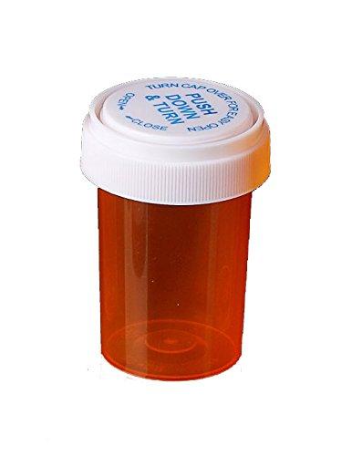 Amber Prescription Pharmacy Vials 20 Dram Vials with Reversible Caps Quantity 270 Vials per Case Caps Included