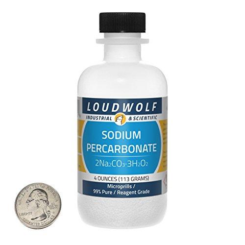 Sodium Percarbonate  Microprills  4 Ounces  99 Pure Reagent Grade  SHIPS FAST