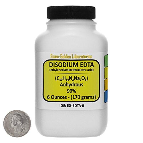 Disodium EDTA C10H14N2Na2O8 99 ACS Grade Powder 6 Oz in a Space-Saver Bottle USA