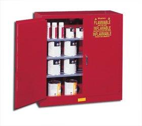 Justrite Deluxe Class Iii Paint And Ink Safety Cabinets H25540 Size H X W X D 44 X 43 X 18 Wt Lbs 260 Cap Gal 40 Door Type Sliding Door No Adj Shelves 3 25540