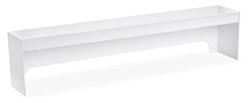 TrippNT 50215 PVC Fume Hood Shelf 36 Width x 8 Height x 5 Depth 3  White