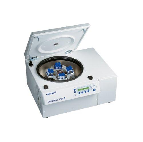 Eppendorf 022628153 Model 5804R Refrigerated Centrifuge with A-4-44 4 x 250ml Rectangular-Bucket Rotor 1550ml Adaptor 120V