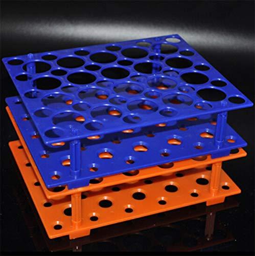 KINNOSE Tube Rack Detachable Centrifuge Tube Holder 50-Well for 101550ml Test Tubes Polypropylene PCR Microcentrifuge Tubes 2Pcs