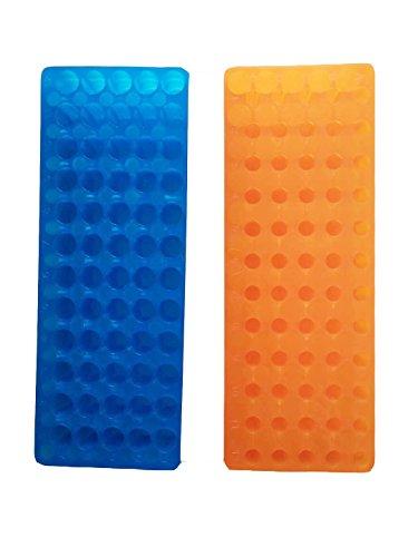 OrangeBlue Tube Rack Double Panel 60 Positions Polypropylene for Microcentrifuge Tubes 0515ml Pack of 2