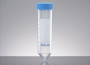 Falcon 50mL High Clarity PP Centrifuge Tube Conical Bottom Sterile 25Rack 500Case
