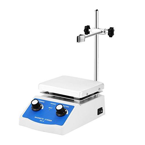 BestEquip Magnetic Stirrer 47 x 47 Inch Heating Plate Magnetic Stirrer Hot Plate 1000ml Stirring Capacity Magnetic Stirrer Kit 180W Heating Power