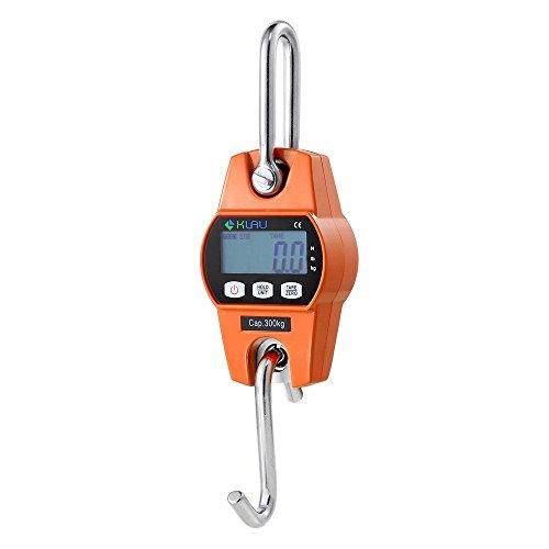 Crane ScaleKlau Mini Hoist 300 kg  600 lb Industrial Heavy Duty Digital Hanging Scales Orange