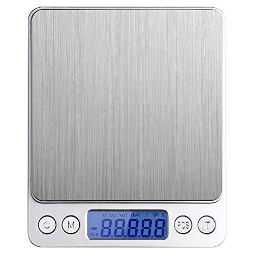 Etekcity 500g Digital Multifunction Pocket Kitchen Food Scale Stainless Steel 0001oz 001g Resolution