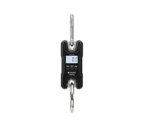 Mini Crane ScaleKlau Portable 500 kg  1000 lb Heavy Duty Digital Hanging Scales LCD Display with Backlight for Home Farm Market Fishing Hunting Black