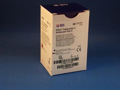 BD Difco Salmonella O Antisera and Quality Control Antigens Poly B 3ML 1 Each