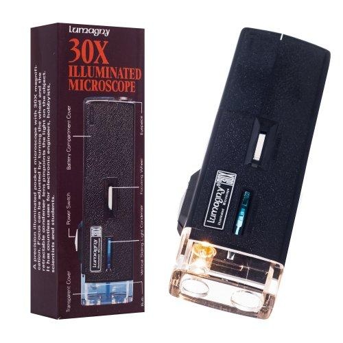 Lumagny MP7513 30X Illuminated Pocket Microscope