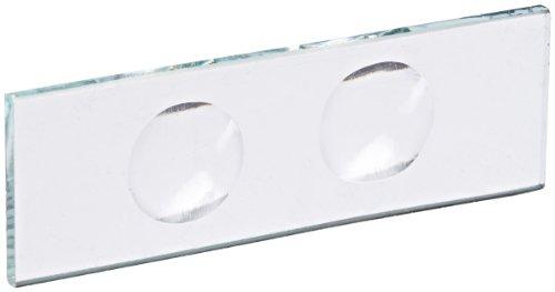 United Scientific CSTK02 Glass Microscope Slide 2 Concavities Pack of 12
