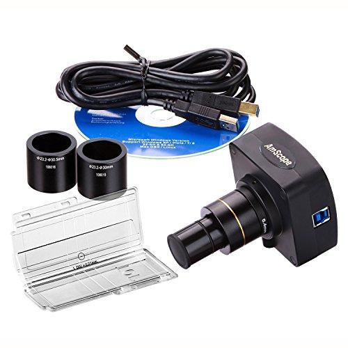 AmScope MU1003-CK 10MP Live Video USB30 Digital Microscope Camera 10 MP  Calibration Kit