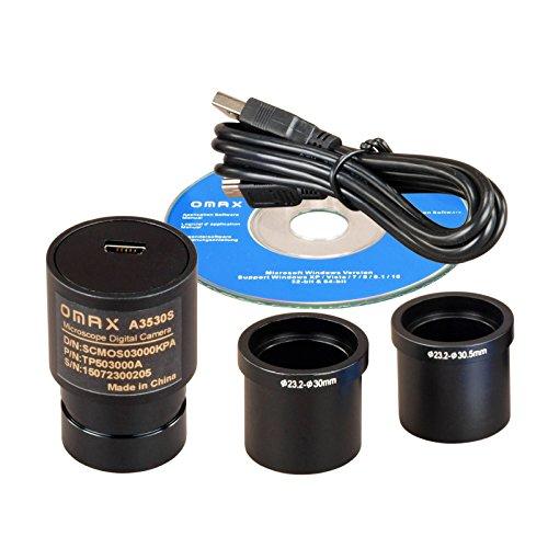 OMAX 3MP USB Digital Microscope Camera Compatible with Windows XP through Windows 10
