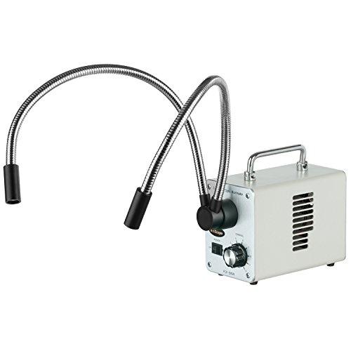 AmScope LED-50WY 50W LED Fiber Optic Dual Gooseneck Lights Microscope Illuminator