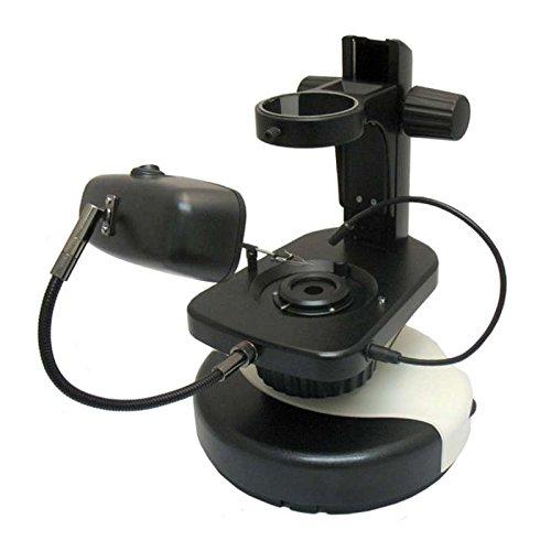 Gemological Microscope Stand with Halogen Illuminator 100mm Focusing Range