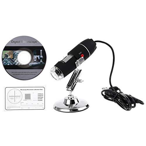 yangerous 1600X Camera 8LED Endoscope USB Digital Microscope Magnification with StandUltra-Precise Focusingfor Student Beginner