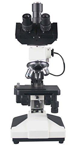 Radical 600x Professional Trinocular Hair Fibre Wood Paint Metallurgical Reflected LED Light Industrial Microscope w Camera Port