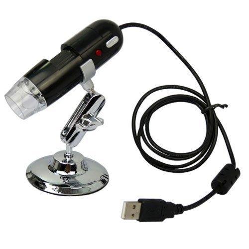 AGPtek  Black USB Digital Microscope 2 Mega Pixel Video Camera Microscope 20-200X