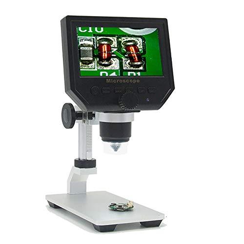 SCZZ USB Digital Microscope 600X 43 LCD Display Electronic Video Magnifier Digital Microscope Video Camera with Adjustable 8 LEDs1080P720PVGA Resolution