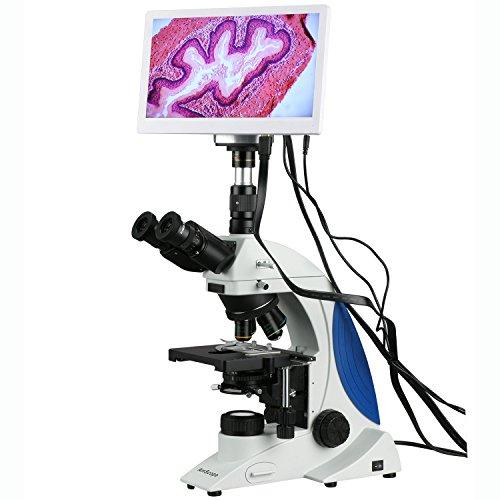100X-1000X Plan Infinity Kohler Laboratory Research Microscope with HDMI Camera HD Monitor