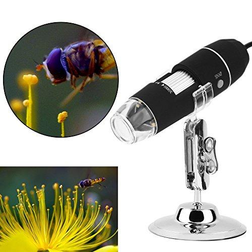 Loss 20X-1000X USB Digital Microscope Camera Android 8-LED Light 20MP HD Detection Board Magnifier Use WindowsLinuxVista Simple Microscope 1000X