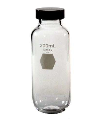 Kimble 14720-200 Glass 200mL Heavy-Duty Centrifuge Bottle with Screw Cap