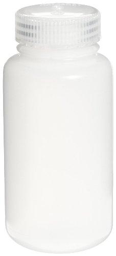 Nalgene 3121-0250 HDPE 250mL Wide-Mouth Centrifuge Bottle with Polypropylene Screw Closure Pack of 6