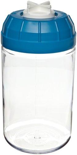 Nalgene 3140-1006 Polycarbonate 1000mL Centrifuge Bottle with Polypropylene-Ether Screw ClosureBlue Silicone Gasket Case of 6