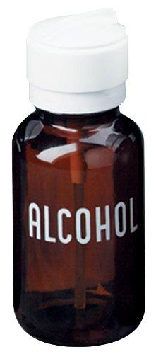 MENDA 35608 GlassPolypropyleneSteelLow-Density PolyethyleneLdpe Dispensing Bottle Lasting-Touch Imprinted Alcohol Amber Round Glass 8 oz 8 fl oz Capacity