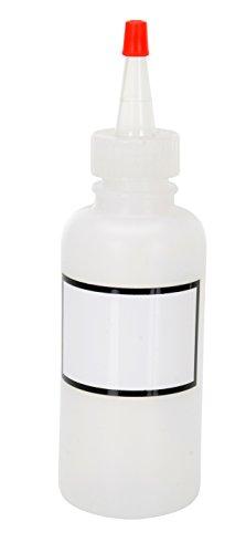 Vestil BTL-RC-4-LBL Low Density Polyethylene LDPE Round Graduated Dispensing Bottle with Label and Red Cap 4 oz Capacity Translucent