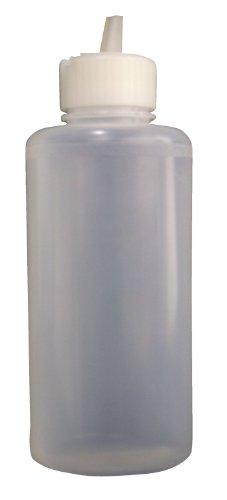 Vestil BTL-RF-16 Low Density Polyethylene LDPE Round Squeeze Dispensing Bottle with Natural Flip-Top Cap 16 oz Capacity Natural
