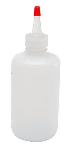 Vestil BTL-RF-8 Low Density Polyethylene LDPE Round Squeeze Dispensing Bottle with Natural Flip-Top Cap 8 oz Capacity Clear