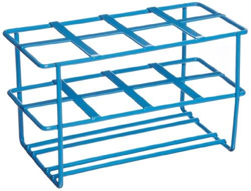 Heathrow Scientific HD232461 Steel Epoxy-Coated 8-Well Wire Racks for 50mL Tubes Blue