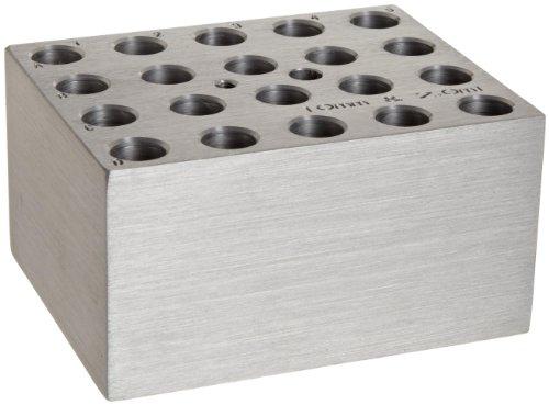 Benchmark Scientific BSW10 Aluminum Dry Bath Heating Block for Digital Dry Bath Incubator 20  x 10mm Test Tubes Or 20 x 20mL Centrifuge Tubes Capacity