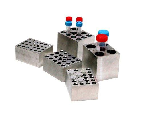 Benchmark Scientific BSW1520 Aluminum Dry Bath Heating Block for Digital Dry Bath Incubator 24 x 15mL Or 20mL Centrifuge Tubes Capacity