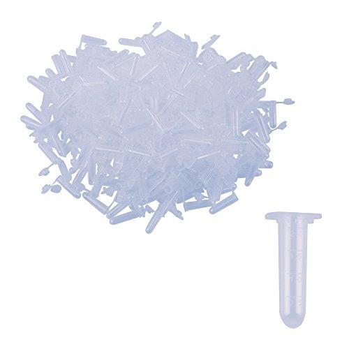 Eowpower 400pcs 2ml Plastic Test Tube Centrifuge Tubes for Sample Storage Container Fragrance Beads Liquid