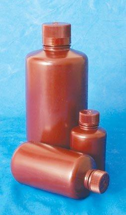 Nalgene Amber Narrow-Mouth HDPE Sample Bottles 30mL 1 oz