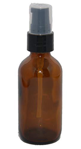 1 oz Amber Boston Round Glass Bottle with Fine Mist sprayer 6bx