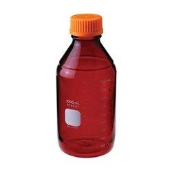 Pyrex Media Bottles 2000mL Low Actinic with GL-45 Screw Cap case4
