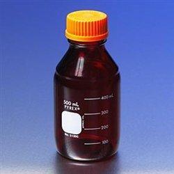 Pyrex Media Bottles 500mL Low Actinic with GL-45 Screw Cap case4