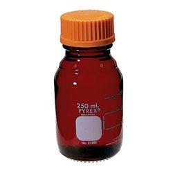 Pyrex Media Bottles 50mL Low Actinic with GL-32 Screw Cap case4