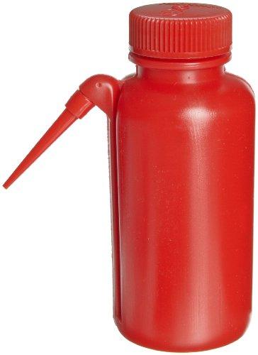 Nalgene DS2408-0250 Unitary Safety Wash Bottle Red 250mL Case of 4