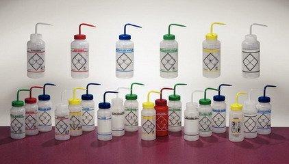 Safety Wash Bottles Low-Density Polyethylene Wide Mouth Toluene  1 Ea