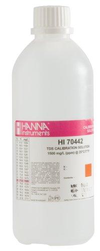 Hanna Instruments HI70442L 1500 mgL ppm TDS Calibration Solution 500mL Bottle