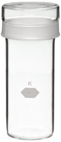 Kimble Tall Cylindrical Weighing Bottle With Short Length Joint 40 x 100mm 92mL Pack of 6