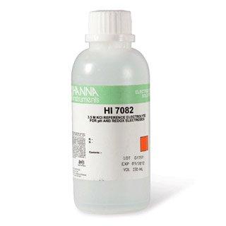 Hanna Instruments HI7071 35M KCl  AgCl Electrolyte Solution 30mL Bottle For Single Junction Electrodes
