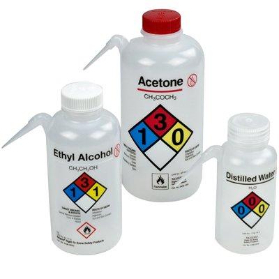16oz500ml Ethyl Alcohol Nalgene Vented Unitary Wash Bottle with White Spout 1 Bottle